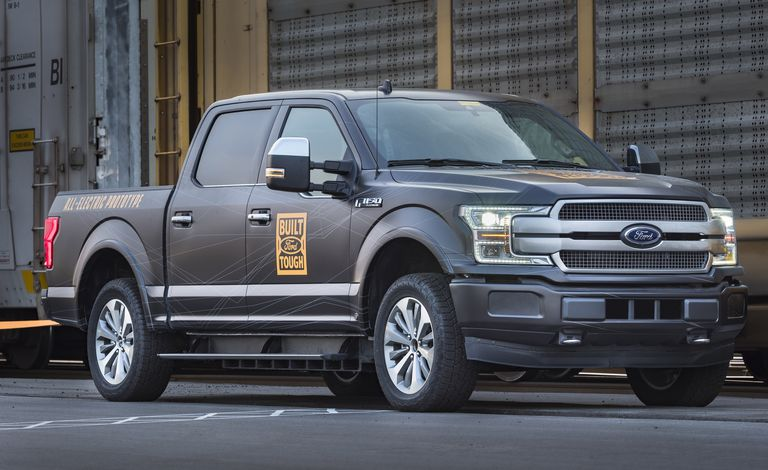 Ford F-150 all-electric pickup trucks