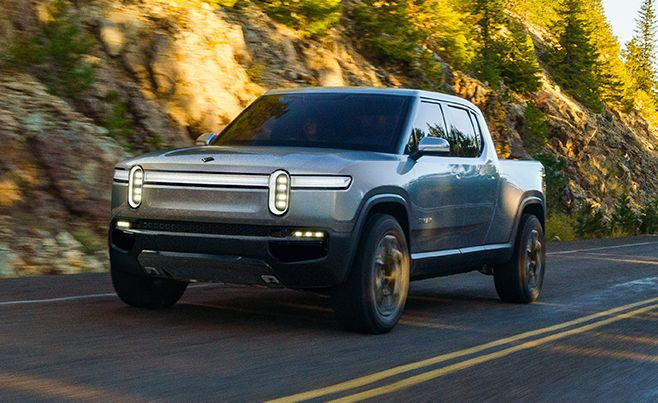 Rivian R1t electric pickup trucks