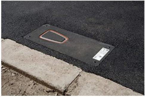 pop-up pavement charger